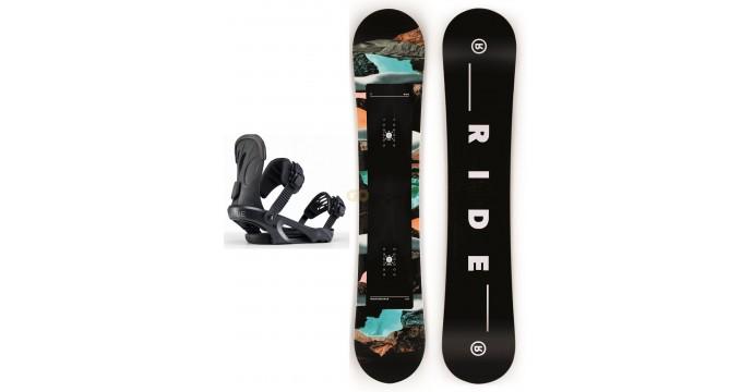 Zestaw snowboardowy Ride HeartBreaker/ Ride LHX Black 2020
